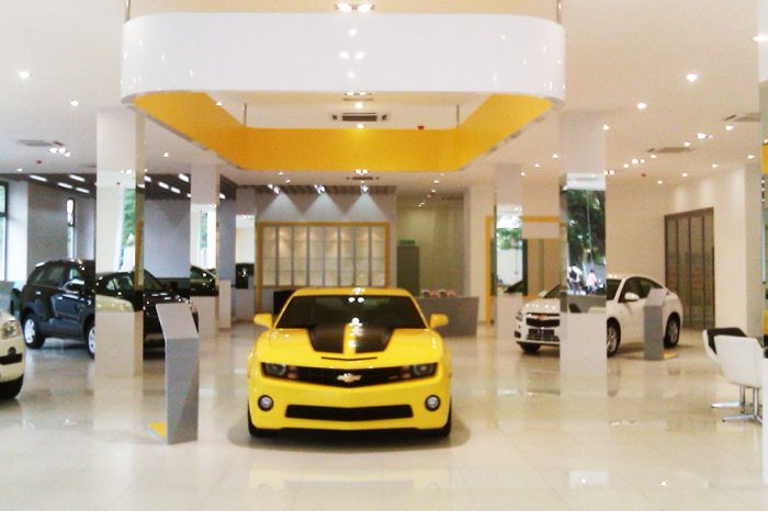 automobile showroom design & build portfolio